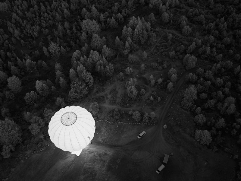 Hot Air Balloons In Infrared